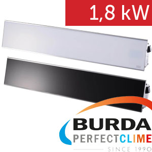 Infrazářič BURDA Relax Glass 1800 W stříbrný kryt, černé sklo bez DO/R