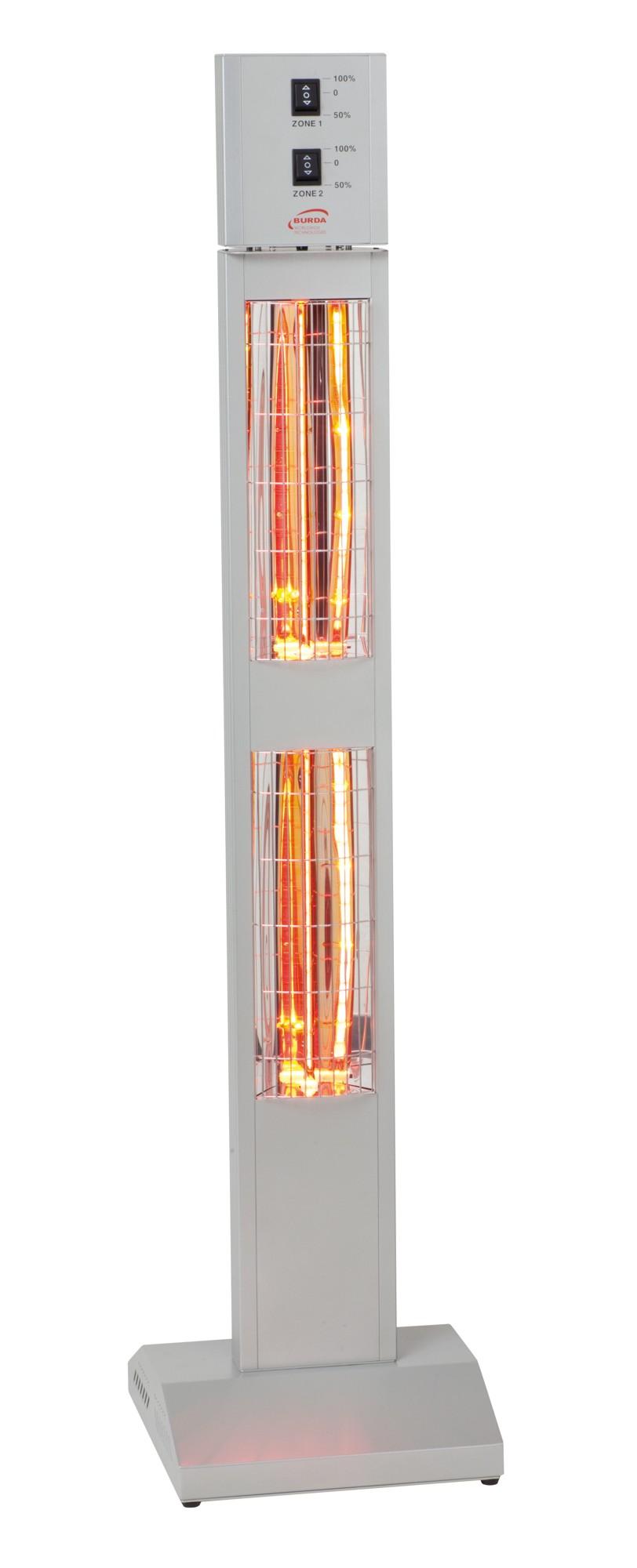 BURDA Smart Tower 2x 1,5 kW, stříbrný (Infrazářič)