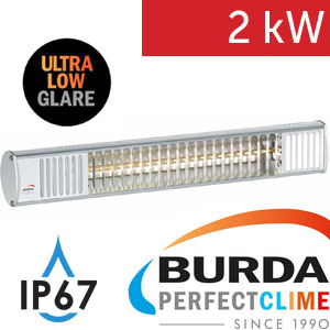 Infrazářič - Burda TERM 2000 IP 67, 2 kW,  stříbrný, LOW GLARE