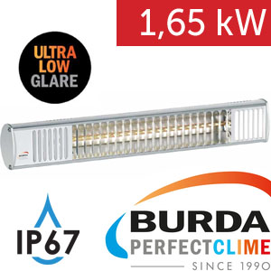 Infrazářič - Burda TERM 2000 IP 67, 1,65 kW, stříbrný, ULTRA LOW GLARE