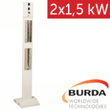 Infrazářič - Burda Smart Tower 2x 1,5 kW, bílý