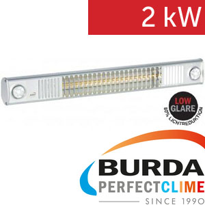 Infrazářič - Burda TERM 2000 L&H, 2 kW, stříbrný Ultra LOW GLARE fix