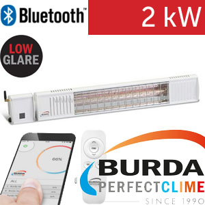 Infrazářič - Burda TERM 2000 Bluetooth IP 67, 2 kW, bílý, LOW GLARE
