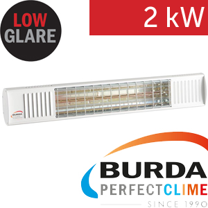Infrazářič - Burda TERM 2000 Color IP 67, 2 kW,  bílý, ULTRA LOW GLARE
