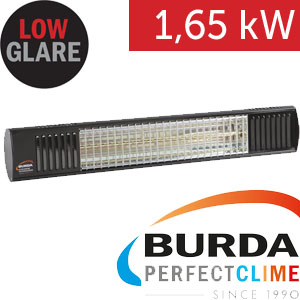 Infrazářič - Burda TERM 2000 Color IP 67, 1,65 kW,  černý, ULTRA LOW GLARE