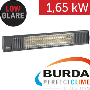 Infrazářič - Burda TERM 2000 Color IP 67, 1,65 kW,  antracit, ULTRA LOW GLARE