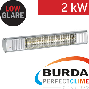Infrazářič - Burda TERM 2000 IP 67, 2 kW, stříbrný, ULTRA LOW GLARE