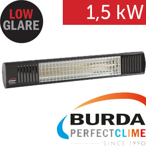 Infrazářič - Burda TERM 2000 Color IP 67, 1,5 kW,  černý, ULTRA LOW GLARE