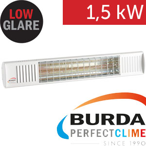 Infrazářič - Burda TERM 2000 Color IP 67, 1,5 kW, bílý, ULTRA LOW GLARE