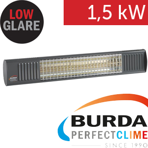 Infrazářič - Burda TERM 2000 Color IP 67, 1,5 kW, antracit, ULTRA LOW GLARE