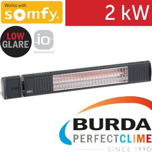 Infrazářič - Burda TERM 2000 SOMFY IP 67, 2 kW,  antracit, LOW GLARE