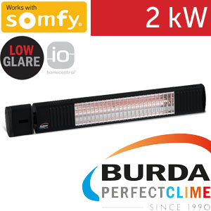 Infrazářič - Burda TERM 2000 SOMFY IP 67, 2 kW, černý, LOW GLARE