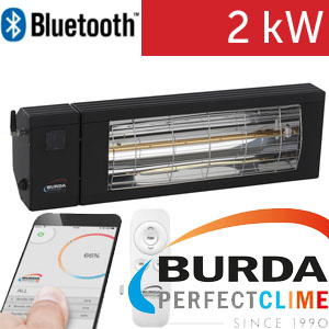 Infrazářič - Burda SMART 2000 BLUETOOTH IP24, černý