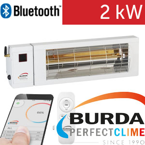 Infrazářič - Burda SMART 2000 BLUETOOTH IP24, bílý