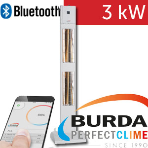 Infrazářič - Burda SMART TOWER BLUETOOTH IP24, bílý