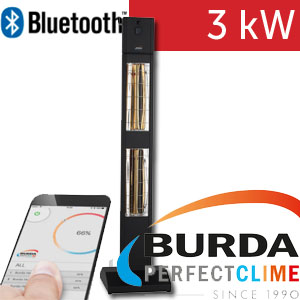 Infrazářič - Burda SMART TOWER BLUETOOTH IP24, černý