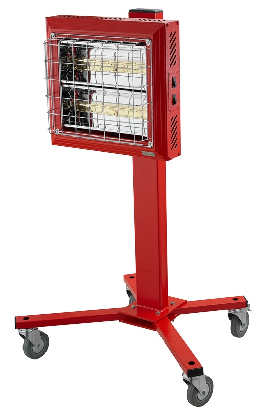 infraky-cz-infrazaric-Tansun-spotter-mobile-infrared-heater-front-profile-in-red